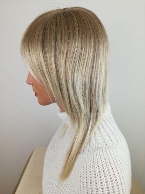 Peruka damska mix chłodnych blondów PROSTA