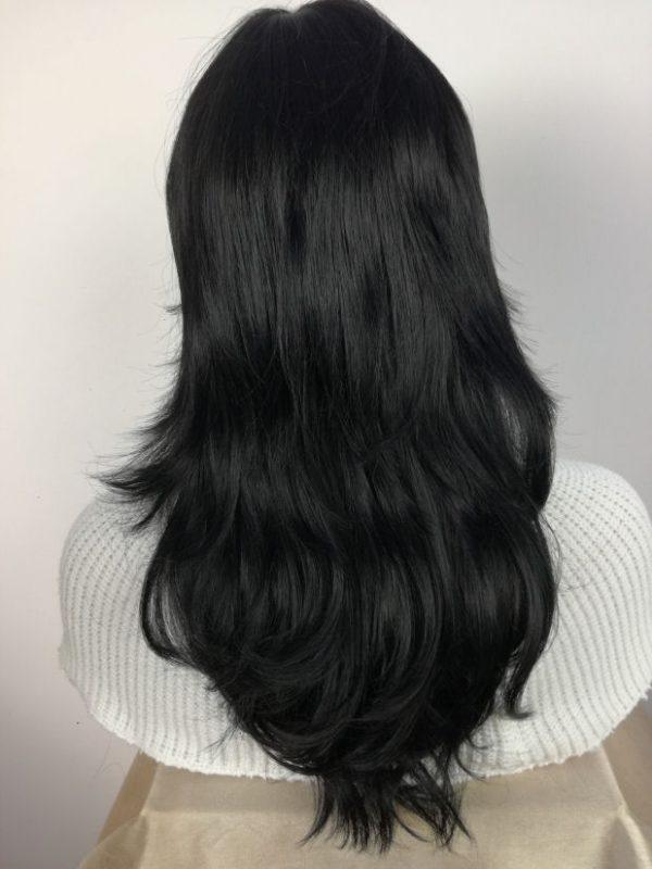 Peruka klasyczna czarna PIĘKNA cieniowana