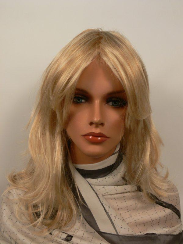 Peruka klasyczna rozświetlony blond PIĘKNA